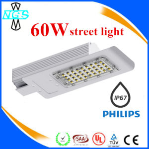 Hot 60W Street Corner LED Street Light and Fixtures Light at Night pictures & photos