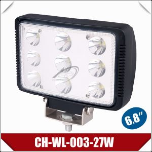 "6.8"" 27W Rectangle Curved Lens LED Work Light (CH-WL-003-27W)"