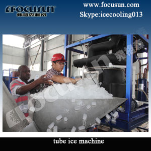 Focusun 10ton Tube Ice Machine with PLC System pictures & photos