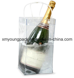 Promotional Portable Plastic PVC Wine or Champagne Cooler Ice Bag pictures & photos