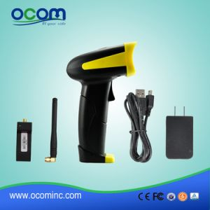 Long Distance RF433MHz Wireless Laser Barcode Scanner (OCBS-W380) pictures & photos