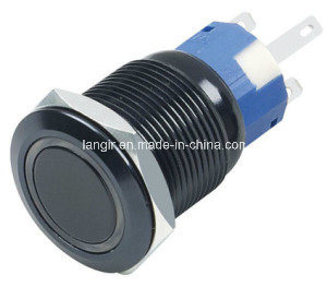 Self-Locking Anodized Aluminum Black Push Button Switch, Latching Push Button Switch pictures & photos