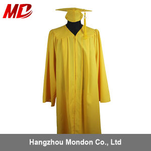 High Qualitity Graduation Hat and Robes Yellow pictures & photos