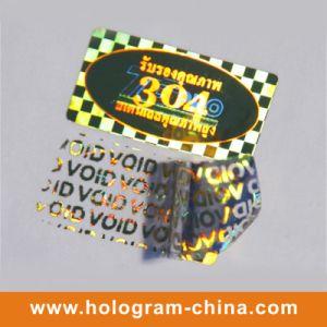 Golden Void Tamper Evident Laser Hologram Label pictures & photos
