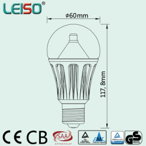 620lm 8W Milky Glass Cover LED Bulb Lamp (LS-BA609) pictures & photos