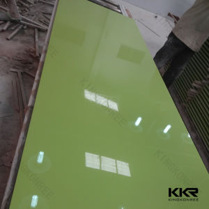 Green Color Artificial Marble Stone Solid Surface Sheets pictures & photos