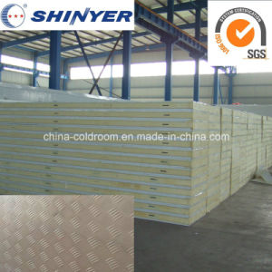 50mm Polyurethane PU Sandwich Panel with 0.8mm Embossed Aluminuml Plate pictures & photos