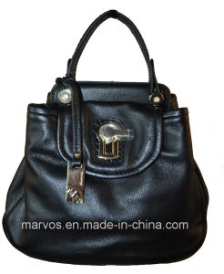Newly Ladies′ Leather Hand Bag /China Wholesale (M10500)