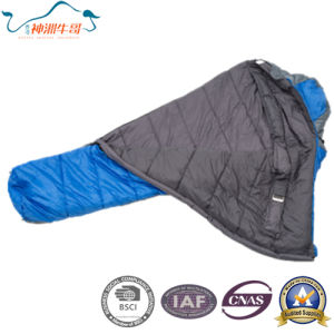 Soft and Warm Outdoor Mummy Sleeping Bag pictures & photos