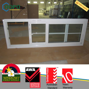 10.76mm Laminated Glass UPVC Slide Windows with Grilles Pictures pictures & photos