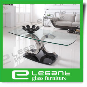 Golden Stainless Steel Coffee Table with Somked Glass Top pictures & photos