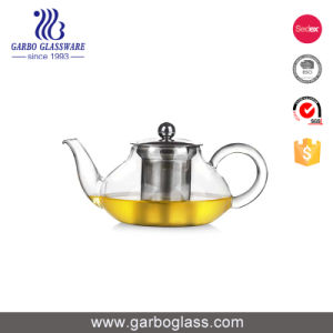 745ml Pyrex Borosilicate Glass Teapot with Ceramic Infuser pictures & photos