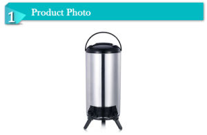 Big Size Stainless Steel Water Dispenser with Double Faucets pictures & photos