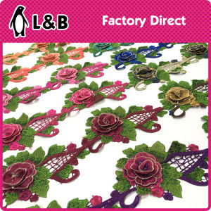 Factory Manufacture Multicolor Embroidery Designs 3D Flower Lace pictures & photos