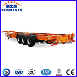 Best Selling 3 Axles 40FT Skeletal Container Transport Semi Trailer pictures & photos