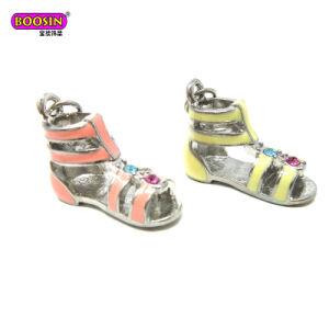 Metal Jewelry Pendant Sport Sandals Shoe Charm with Enamel Colors pictures & photos