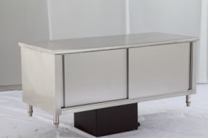 Cheering Hot Sale Stainless Steel Work Top Table Cabinet with Storage pictures & photos