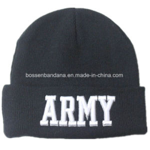 Factory Produce Customized Army Green Print Acrylic Knit Beanie Hat pictures & photos