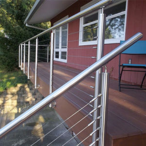 High Quality Stainless Steel Glass Balustrade Modern Balcony Glass Railing Design pictures & photos