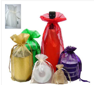 Top Quality Cheap Promotional Mini Cute Wine Bottle Organza Bag pictures & photos