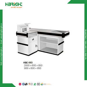 Supermarket Retail Checkout Counter with Convey Belt pictures & photos