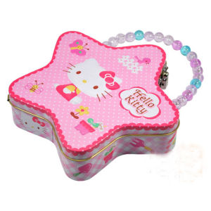 Five-Pointed Star Shaped Tin Box with Handle (FV-112202) pictures & photos