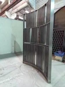Freestanding 304 Color Stainless Steel Metal Sliding Room Divider