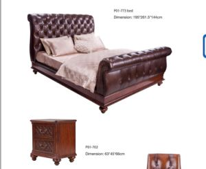 Top Grain Leather Bed pictures & photos