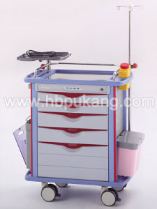 2016 Medical Emergency Trolley with Ce ISO FDA Approved