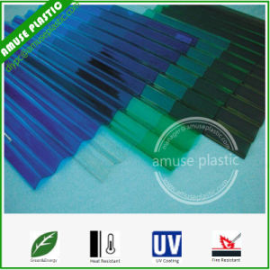 Colored Light Weight Greenhouse Roofing PC Corrugated Polycarbonate Sheets pictures & photos
