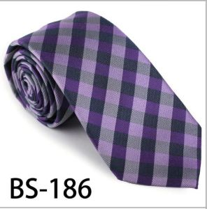 New Design Fashionable Silk/Polyester Check Tie (BS-186) pictures & photos