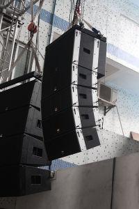 "Dual 8"" 300W Wooden Professional Line Array Loudspeaker pictures & photos"