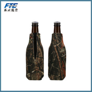 Camouflage Color Neoprene Insulated Bottle Cooler with Zipper pictures & photos
