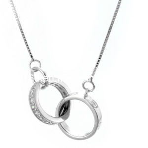Sterling Silver Zirconia Chain Necklace (SSCN-016)