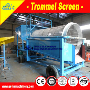 China Low Cost Mini Portable Gravity Trommel Washing Screen Lode Gold Small Mobile Washing Machine for Separating Lode Gold pictures & photos