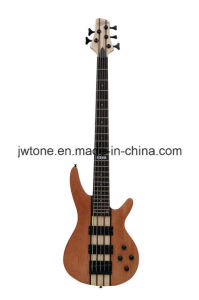 Neck Through Ash Wood Body Electric Bass Guitar pictures & photos