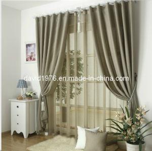 Faux Linen Blackout Pinch Pleat Curtain/Panel (SZSMEBP037)