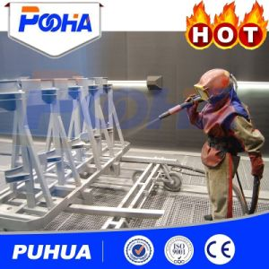 Sand Blasting Room with No Pit (Q26) Sand Blasting Machine pictures & photos