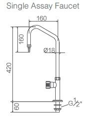 Single Assay Faucet,Bench Laboratory Faucet (WJH0712) pictures & photos