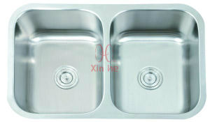 Kitchen Sink, Double Stainless Steel Sink (D81) pictures & photos