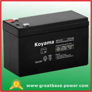 High Quality SMF Lead Acid Alarm System Battery 7.2ah 12V pictures & photos