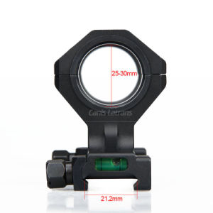 Tactical Airsoft Double Ring Scope Mount with Scope Level pictures & photos