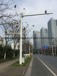 Double Crossarm Camera Surveillance Poles pictures & photos