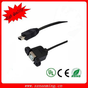 USB B Female to Mini USB Cable (NM-USB-1354) pictures & photos