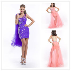 One Shoulder Tulle Prom Dress