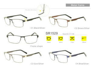Classic Wholesale Stock Eyewear Eyeglass Optical Metal Frame Sr1529 pictures & photos