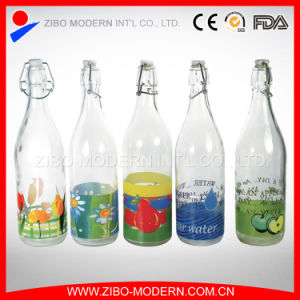 Wholesale 1L Drinking Glass Water Bottle with Hermetic Lid pictures & photos