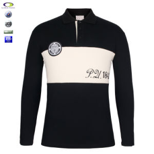 Skin Tight Mens Two-Color Long Sleeve Polo T Shirt