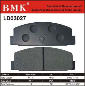 High Quality Brake Pads (D3027) for Mazda pictures & photos
