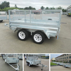 Galvanized 8X5 Bolted Tandem Cage Trailer pictures & photos